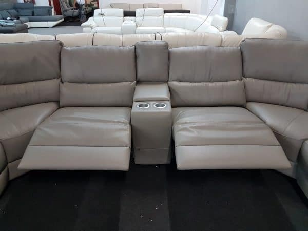 Bőr ülőgarnitúra relax funkcióval SOFTALY 214