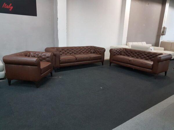 Bőr kanapé Italsofa C005 3-2-1 bőr ülőgarnitúra