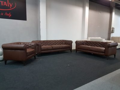 Bőr kanapé Italsofa C005 Romantico (Natuzzi Editions) 3-2-1 bőr ülőgarnitúra