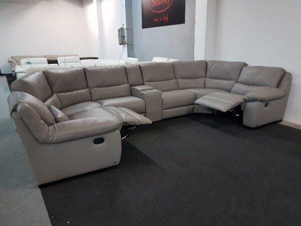 Motoros relax ülőgarnitúra SOFTALY 214 bőr kanapé