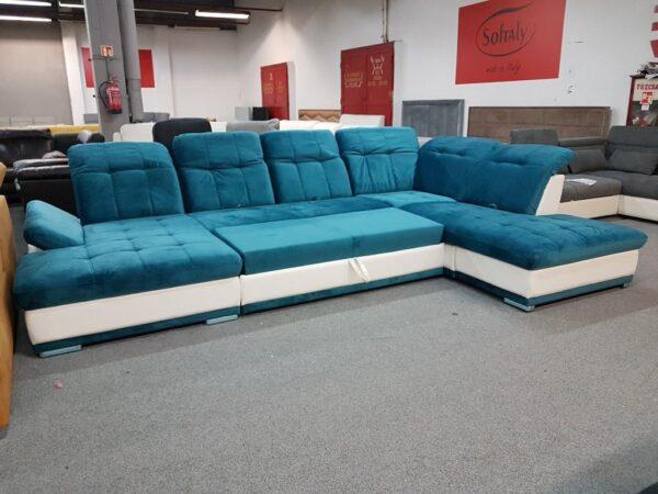 SANTA FE ágyazható U ülőgarnitúra (kék)