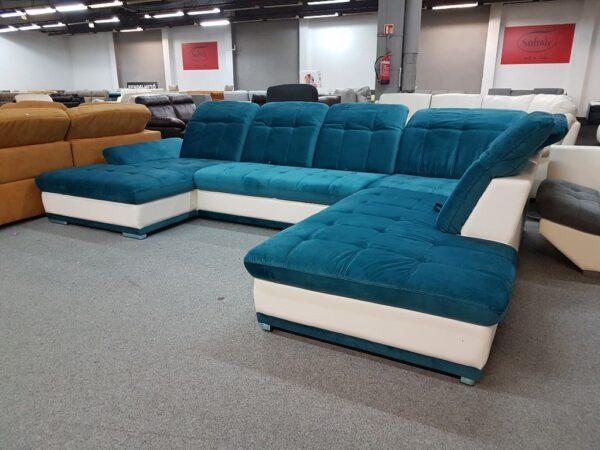 SANTA FE U alakú kanapé (kék)