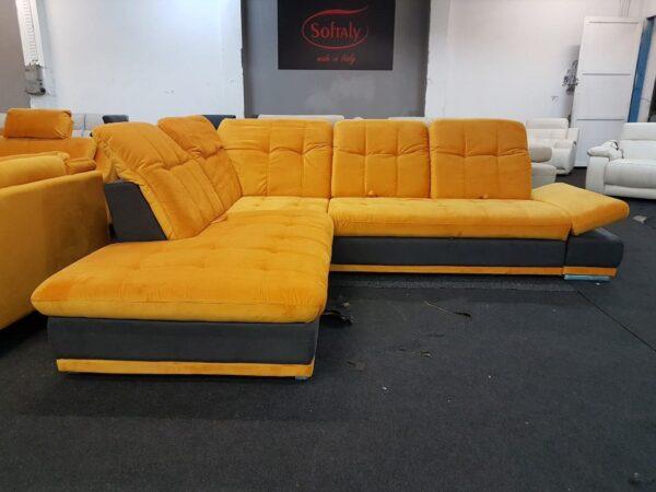 Santa Fe sarok ülőgarnitúra (sárga)