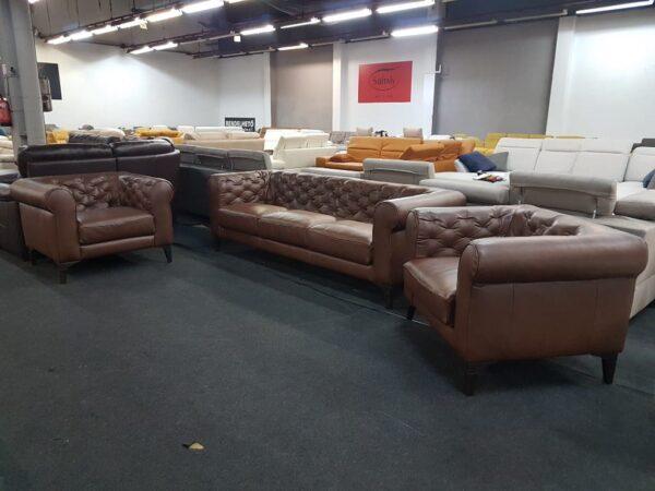 Italsofa C005 Romantico bőr kanapé 3+1+1