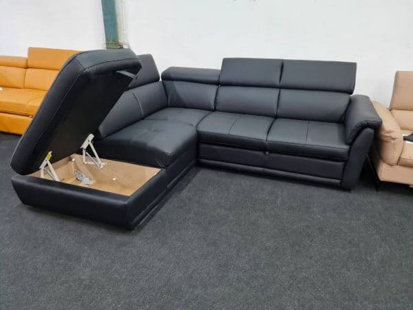 Montis ágyneműtartós bőr ülőgarnitúra