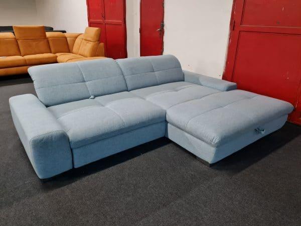 Alina 1200 sarokgarnitúra - kék ülőgarnitúra