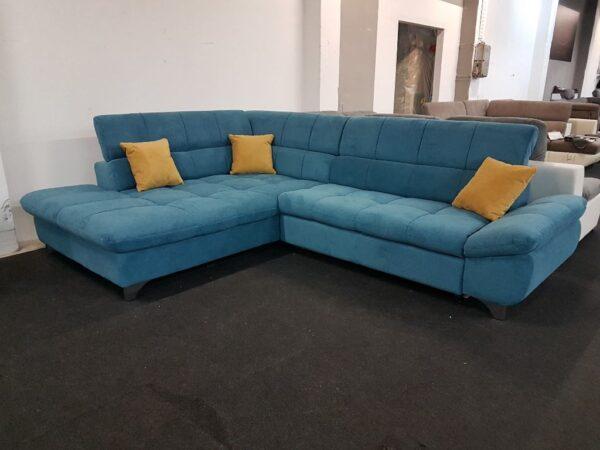 Cotta Gemini sarokgarnitúra (kék)