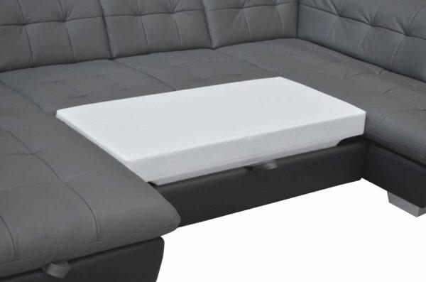 ADA ágyazható bőr ülőgarnitúra - Atlantis U alakú kanapé