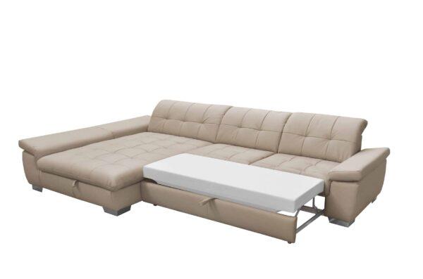 ADA ágyazható bőr ülőgarnitúra - Atlantis sarok kanapé
