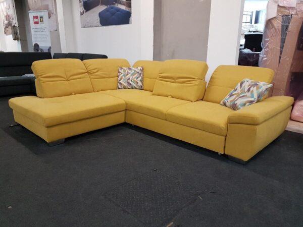 ADA ülőgarnitúra - Alina 7524 - Sarokgarnitúra sárga
