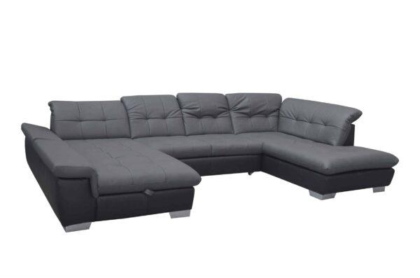 Bőr ülőgarnitúra - U alakú kanapé Atlantis