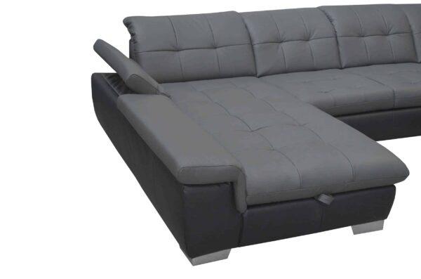 Bőr ülőgarnitúráka - Atlantis U alakú kanapé