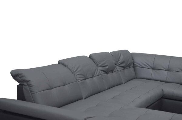 Modern bőr ülőgarnitúra - U alakú kanapé Atlantis
