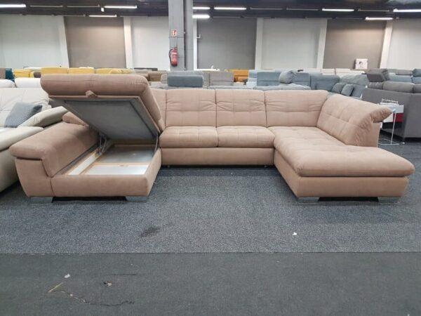 Alina Atlantis ülőgarnitúra - ágyneműtartós U alakú kanapé