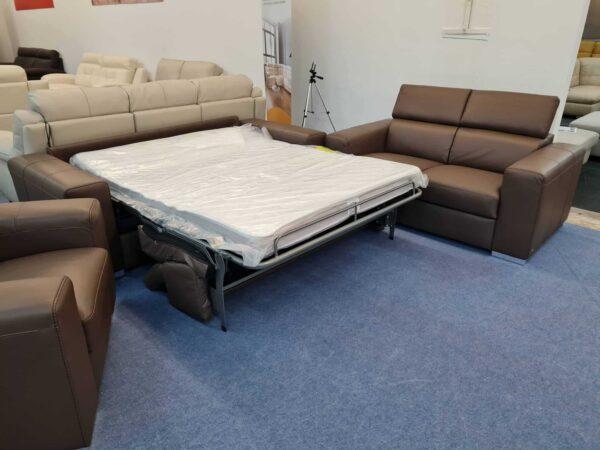 Ágyazható bőr kanapé Softaly Z 324