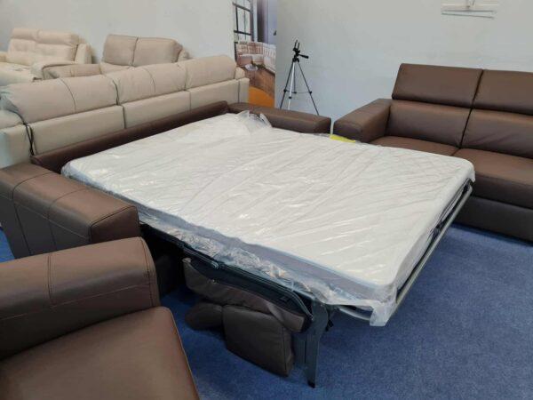 Ágyazható bőr kanapé Softaly Z 324 ülőgarnitúra 3-2-1