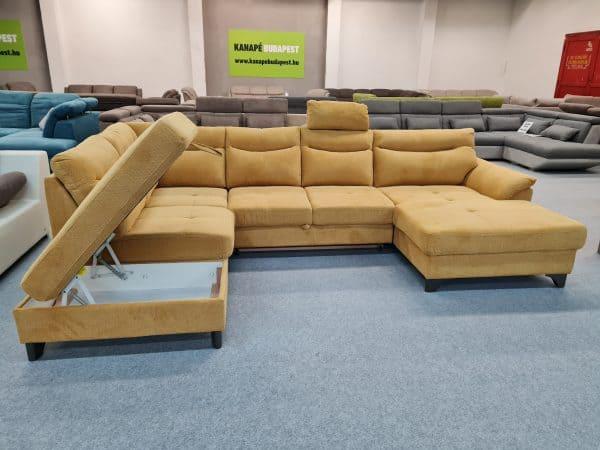 Adele ülőgarnitúra ágyazható, ágyneműtartós U alakú kanapé