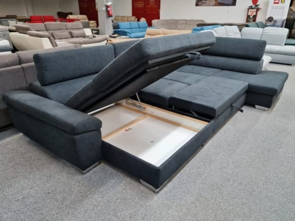 Ágyazható, ágyneműtartós ülőgarnitúra - Alina 7514 U alakú kanapé