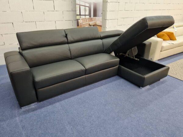 Softaly Z 324 ágyazható, ágyneműtartós bőr sarokkanapé
