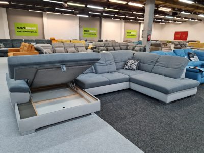 ADA Alina 7524 ülőgarnitúra - ágyazható, ágyneműtartós U alakú kanapé