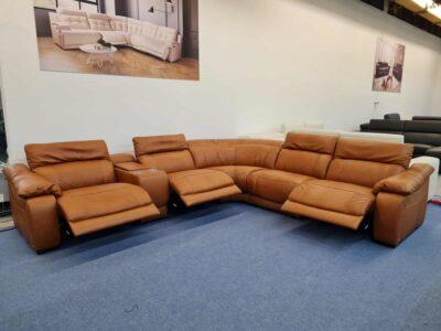 Bőr ülőgarnitúra (chau) - Softaly 076 - Relax ülőgarnitúra