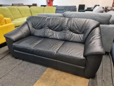 Savona fekete bőr kanapé