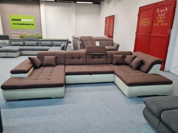 Style U alakú kanapé (barna - bézs)