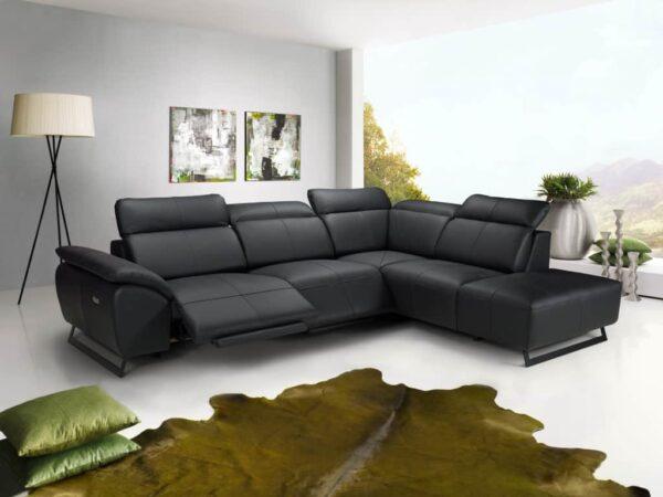 Bőr ülőgarnitúra - COTTA Athene - elektromos relax ülőgarnitúra