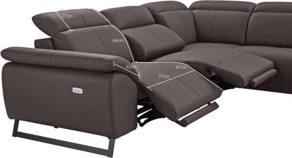 Elektromos relax ülőgarnitúra - COTTA Athene bőr ülőgarnitúra