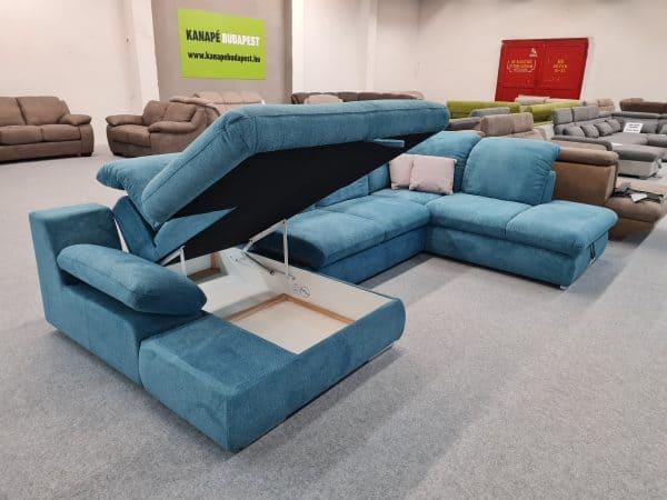 Isona ágyneműtartós ülőgarnitúra kék