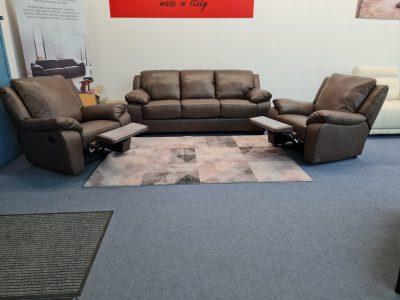 Softaly U092 prémium bőr ülőgarnitúra, relax fotel