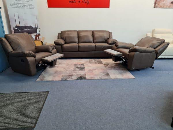 Softaly U092 ágyazható bőr ülőgarnitúra és relax fotel