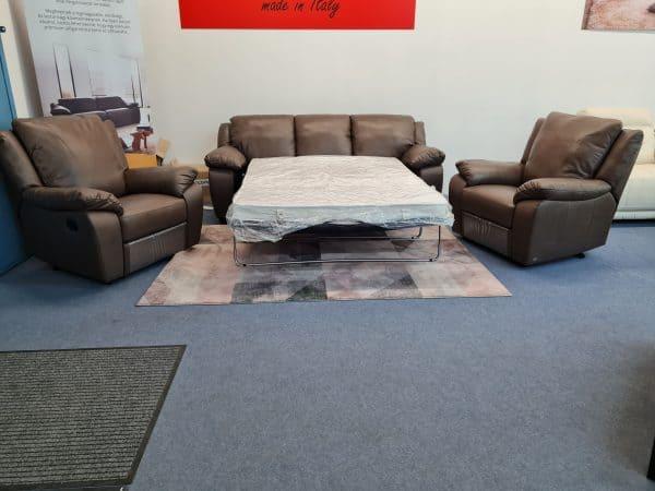 Softaly U092 bőr ülőgarnitúra - ágyazható kanapé