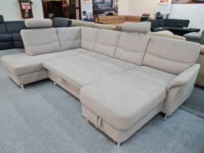 Alina 7404 U alakú ágyazható ülőgarnitúra ágyneműtartós