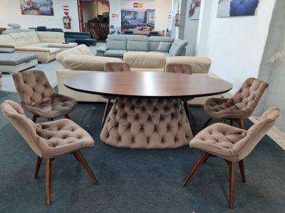 Divanotti étkezőasztal és szék